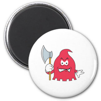Red Reaper Smiley Face Refrigerator Magnets