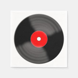 Red Record Napkins Paper Napkins