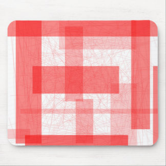 Red Rectangle Background Mouse Pad