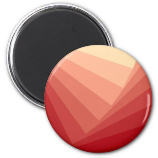 Red Rectangles in Gradient 2 Inch Round Magnet