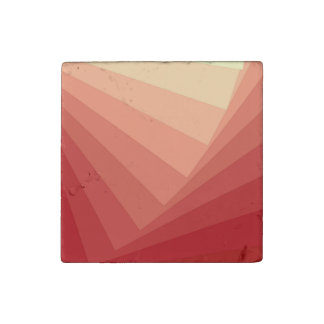 Red Rectangles in Gradient Stone Magnet