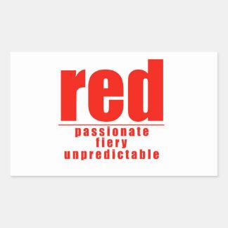 RED RECTANGULAR STICKER
