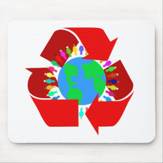 red recycle mouse pad