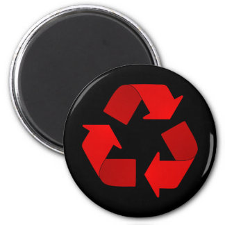 Red Recycling Symbol Magnet