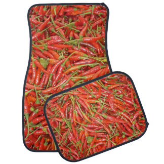 red red chillies car mat