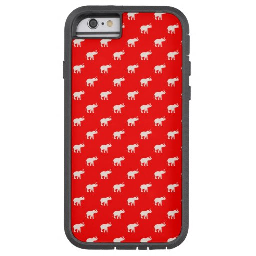 RED Red Elephant in polkadots Tough Xtreme iPhone 6 Case