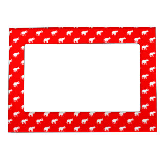 Red Red Elephant pattern Magnetic Frame