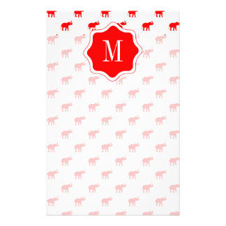Red red Elephant pattern Stationery