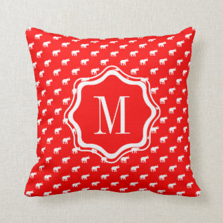 Red Red Elephant Throw Pillow