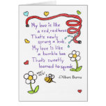 Red Red Hose Love Greeting Card