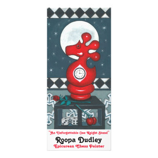 Red Red Rose Personalized Rack Card