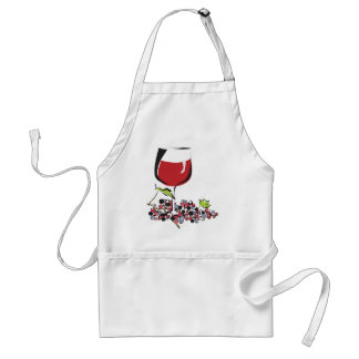 Red, Red Wine Adult Apron