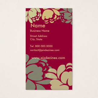 Red red wine camellia profile card, business card