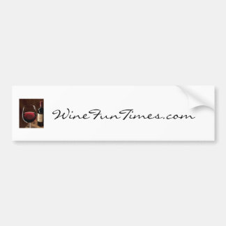 red_red_wine, WineFunTimes.com Pegatina Para Auto