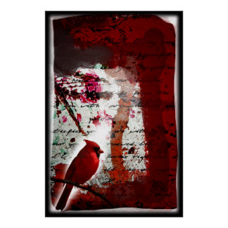 Red Redemption (Cardinal Abstract Art) Posters