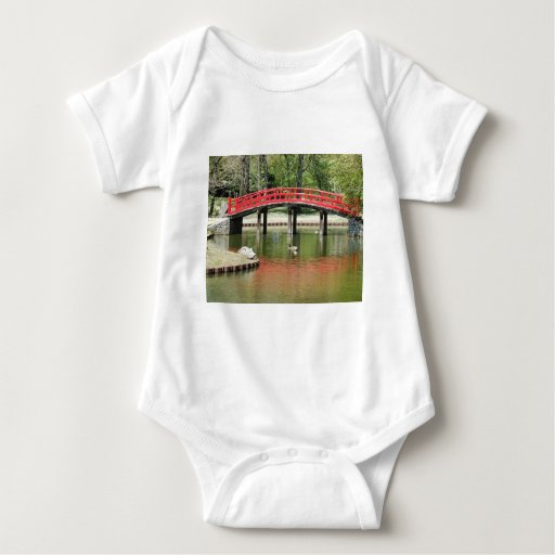 red reflection bridge with birds tshirts
