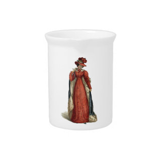 Red Regency Lady Beverage Pitcher