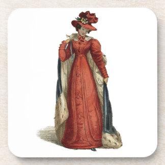 Red Regency Lady Drink Coaster