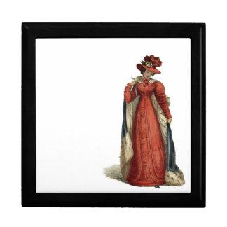 Red Regency Lady Keepsake Box