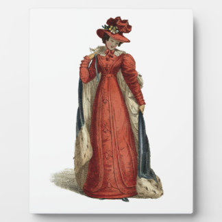 Red Regency Lady Plaque