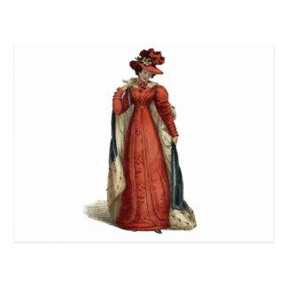Red Regency Lady Postcard