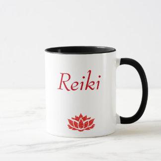 Red Reiki principles style Mug