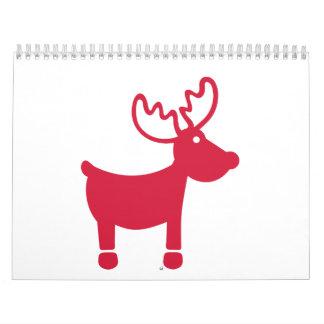 Red reindeer christmas calendar