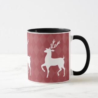 Red Reindeer Christmas Mug