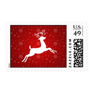 Red Reindeer Christmas Stamp