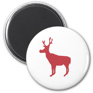 Red Reindeer Magnet