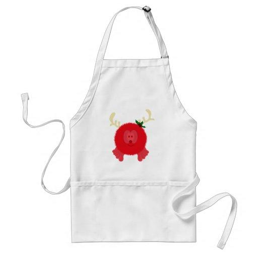 Red Reindeer Pom Pom Pal Apron