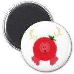 Red Reindeer Pom Pom Pal Magnet