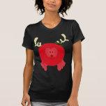 Red Reindeer Pom Pom Pal T Shirt