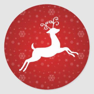 Red Reindeer Stickers