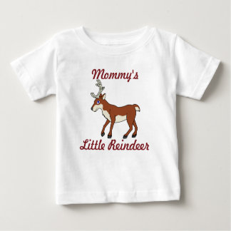 Red Reindeer with Antlers Baby T-Shirt
