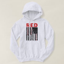RED Remember Everyone Deployed Flag mens hoodie