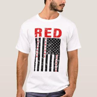 RED Remember Everyone Deployed Flag mens shirt
