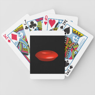Red rendered 3d object bicycle playing cards