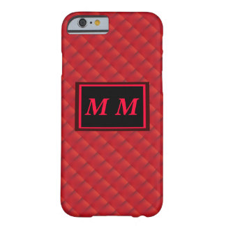 Red Repeating Background Barely There iPhone 6 Case