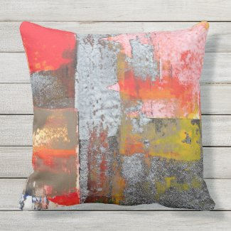 Red Residue Pillow