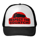 Red RESPECT THE SQUATCH! Logo - New Hit Squatchin Mesh Hat