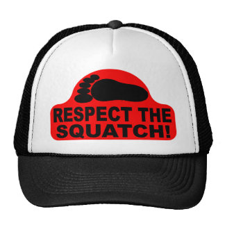 Red RESPECT THE SQUATCH! Logo - New Hit Squatchin Trucker Hat