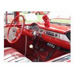Red Restored Car Interior Postcard