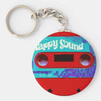 Red Retro Audio Cassette Tape Keychain