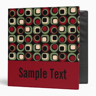 Red Retro Binder Notebook 3 Ring Binder