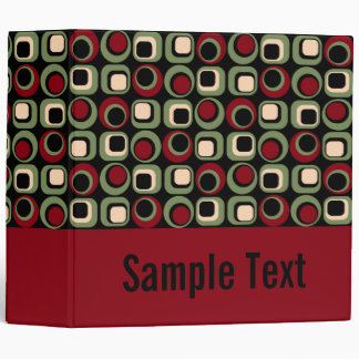 Red Retro Binder Notebook Vinyl Binders