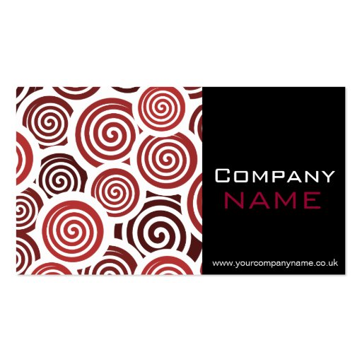 Red Retro Business Card Business Card Templates