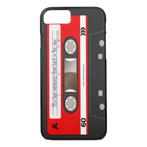 Red Retro Cassette Tape Personalized Cool Unique Phone Case