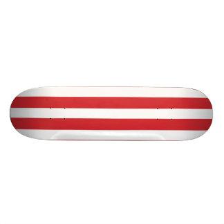 Red Retro Colorful Modern Stripes Pattern Skate Decks