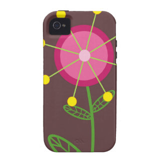 Red Retro Flower Case-Mate Case Vibe iPhone 4 Case